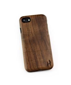 Hoentjen, Houten hoesje, iPhone 8 - donker notenhout (ronde afloop)