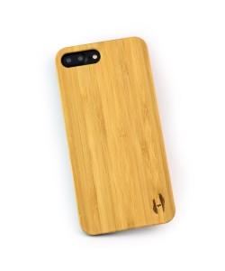 Hoentjen Creatie, Echt houten hardcase hoesje iPhone 8 Plus - bamboe