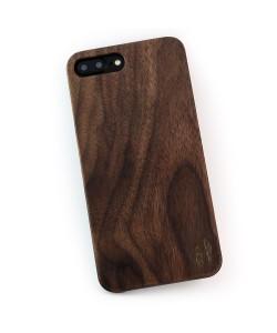 Echt houten hardcase hoesje iPhone 7 Plus - notenhout