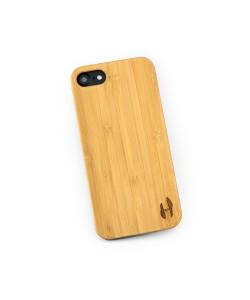 Hoentjen, Echt houten hardcase hoesje iPhone SE 2020 - bamboe