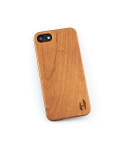 Hoentjen Creatie, echt houten hardcase hoesje iPhone SE 2020 - kersenhout