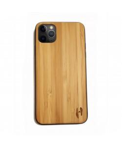 Hoentjen Creatie, Houten TPU case - iPhone 11 pro max Bamboe
