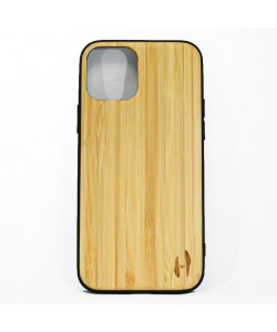Hoentjen Creatie, Houten TPU case - iPhone 12 pro Bamboe