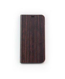 Houten design flip case, iPhone X / XS - Padouk