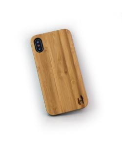 Echt houten hardcase hoesje iPhone X / XS - Bamboe