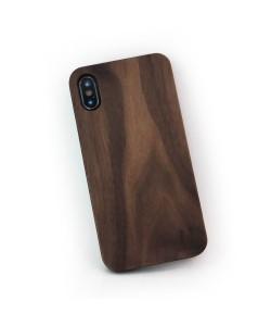 Hoentjen Creatie, Echt houten hardcase hoesje iPhone X - notenhout