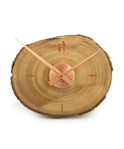 Hoentjen - Handgemaakte houten wandklok - koper3