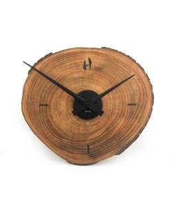 Hoentjen - Handgemaakte houten wandklok - zwart 4