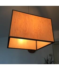 Houten hanglamp, gemoesteerd esdoorn groot - Hoentjen Creatie