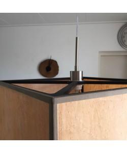 Houten hanglamp, esdoorn - Hoentjen Creatie