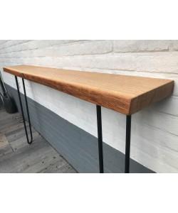Hoentjen Lange eiken houten sidetable