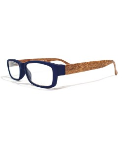 Leesbril blauw hout-look, Hoentjen Creatie