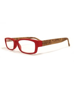 Leesbril rood hout-look, Hoentjen Creatie