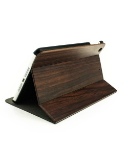 Volledig houten iPad mini bookcase - padouk