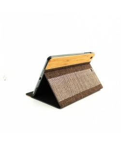 Houten iPad mini bookcase - Bamboe en stof