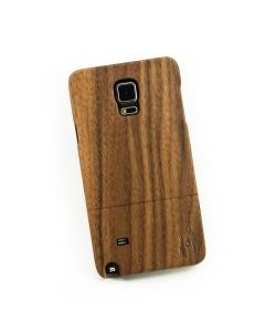 Houten hoesje, Samsung Galaxy NOTE 4 - donker notenhout
