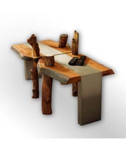 "Luxe salon tafel ""Organic wood design"""