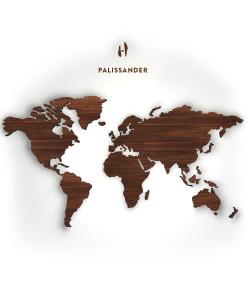 Houten wereldkaart, Palissander