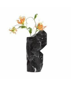 Hoentjen Creatie - Papieren Vaashoes Groot Zwart Marmer