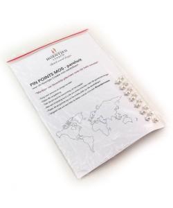 PIN POINTS - parelwit voor de mos wereldkaart