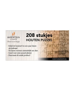 Hoentjen Creatie, Houten puzzel 208 stukjes