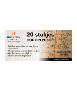 Hoentjen Creatie, Houten puzzel 20 stukjes