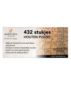 Hoentjen Creatie, Houten puzzel 432 stukjes