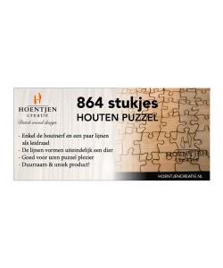Hoentjen Creatie, Houten puzzel 864 stukjes