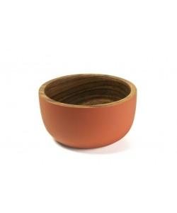 houten schaaltjes rustic sienne, 11 cm