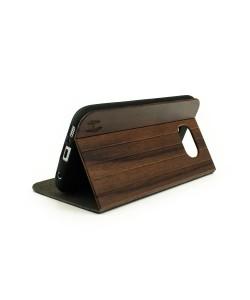 Hoentjen creatie, Houten design flip case, Samsung Galaxy S6 – Padouk