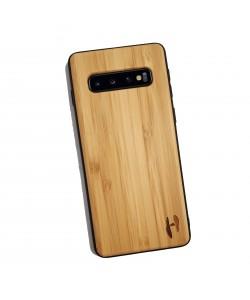 Houten TPU case, Samsung Galaxy S10 - Bamboe