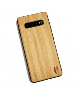 Houten TPU case, Samsung Galaxy S10 plus - Bamboe
