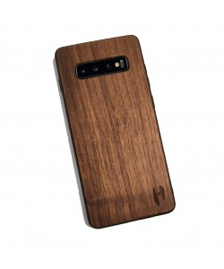 Houten TPU case, Samsung Galaxy S10 plus - Notenhout