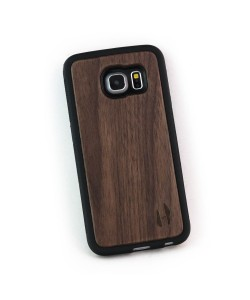 Hoentjen Creatie - Houten TPU case, Samsung Galaxy S6 Edge - notenhout