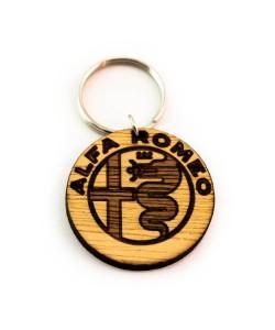 Hoentjen Creatie, Houten sleutelhanger - Alfa romeo