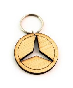 Hoentjen Creatie, Houten sleutelhanger - Mercedes