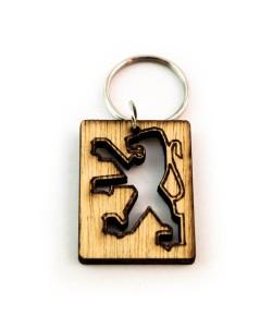 Hoentjen Creatie, Houten sleutelhanger - Peugot