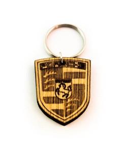 Hoentjen Creatie, Houten sleutelhanger - Porsche