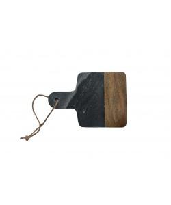 Houten/Marmeren Snijplank Zwart/Grijs Mini