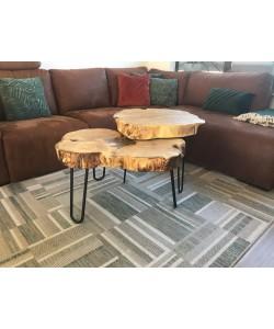 Unieke set Teak houten tafels