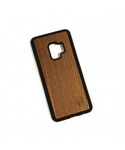 Hoentjen Creatie - Houten TPU case, Samsung Galaxy S9 - Notenhout