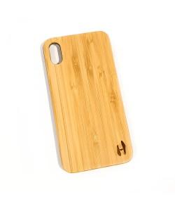 Hoentjen Creatie, Echt houten hardcase hoesje iPhone Xs Max - bamboe