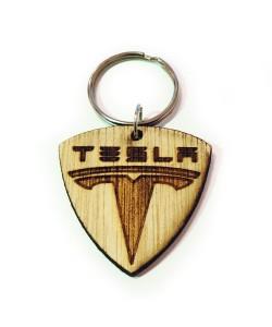 Hoentjen Creatie, Houten sleutelhanger - Tesla