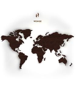 Houten wereldkaart, Wengé