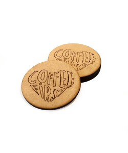Hoentjen Creatie, Houten onderzetters - Coffee First
