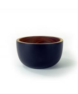 houten schaaltjes met zwarte tint, 16,5 cm