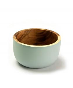 houten schaaltjes lichtblauw, 11 cm