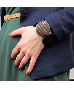 Houten armband, rond
