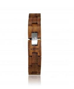 Hoentjen, houten armband - notenhout, 14mm