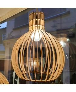 Hoentjen Creatie, Houten lamp - Kleine bolvormige hanglamp